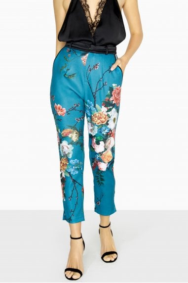 Amelie Vintage Floral Tailored Trousers