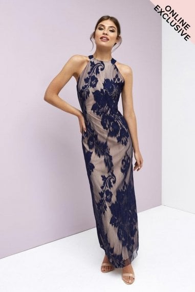 Baroque Lace Maxi Dress