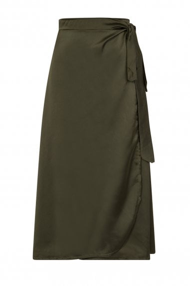 Temptation Satin Wrap Skirt