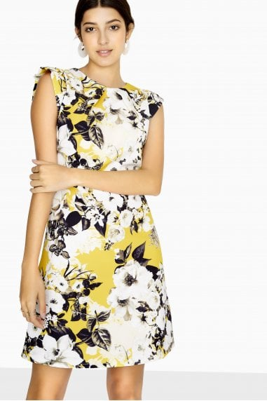 Avoca Shift Dress In Floral Print
