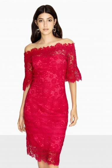 f8a28aa5e79 Sydney Lace Bardot Dress