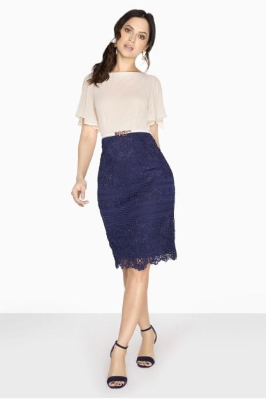 Westwood Angel Sleeve Dress With Lace Skirt
