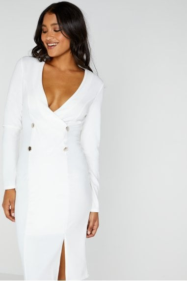 White Tuxedo Dress