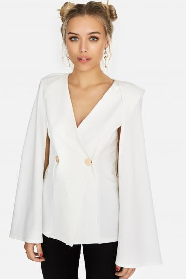 Mercy Oversized Cape Blazer Top