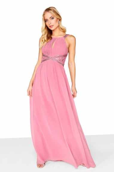 Lauren Lace Insert Maxi Dress With Keyhole