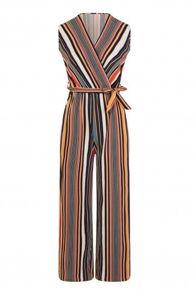 Remy Wrap Jumpsuit In Stripe