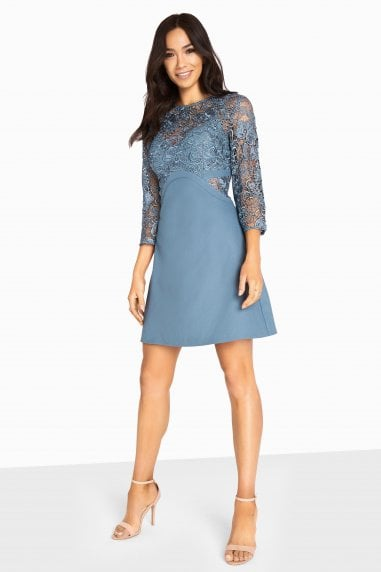 Brooke Crochet Top Shift Dress