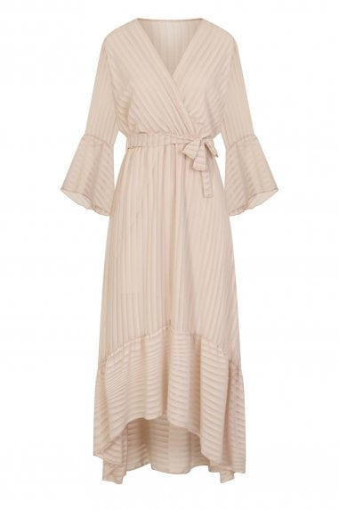 Bailey Mock Wrap Dress In Stripe