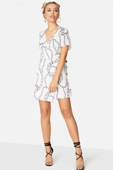 Florrie Tea Dress In Chain Print
