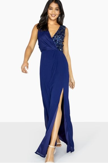 Luxury Penny Open Back Maxi Dress