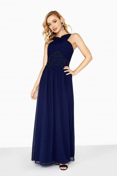 Zara Maxi Dress With Beadwork