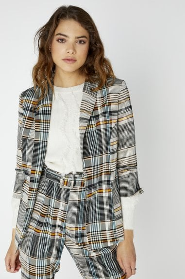 Girls on Film Trix Check Plaid Blazer