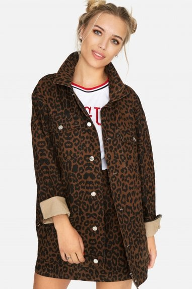 Ronnie Leopard Denim Jacket