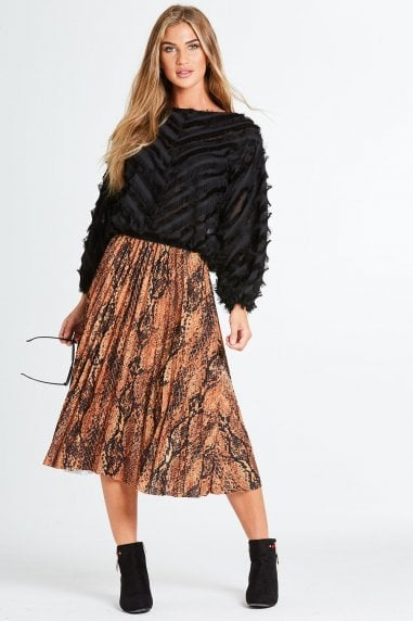 Samira Snake Pleat Skirt