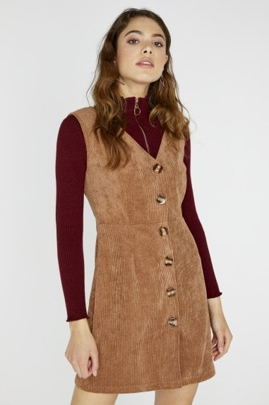 Percy Corduroy Button Dress
