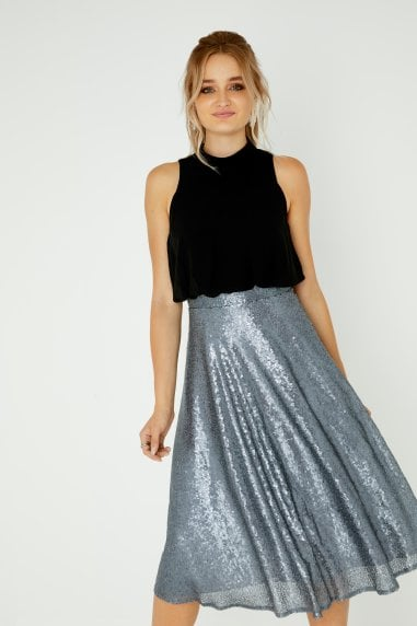 Celine Sequin Skirt Dress