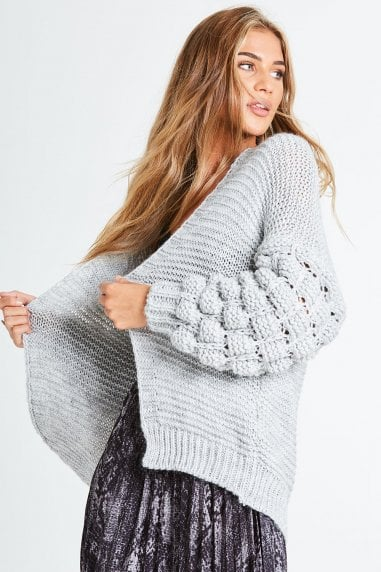 Everett Grey Bobble Cardi