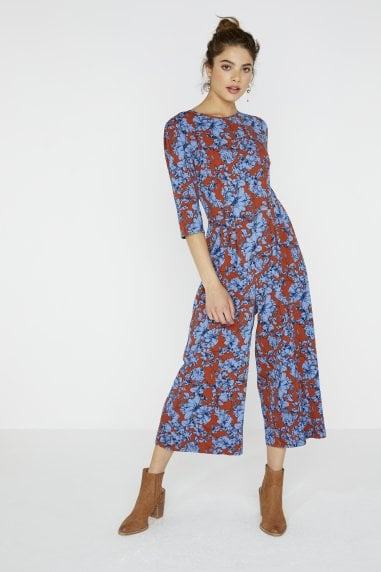 Sybill Culotte Jumpsuit In Floral