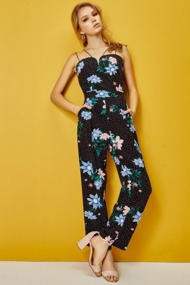 Florence Jumpsuit In Floral Spot