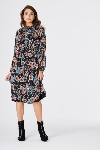 Amos Tea Dress In Floral