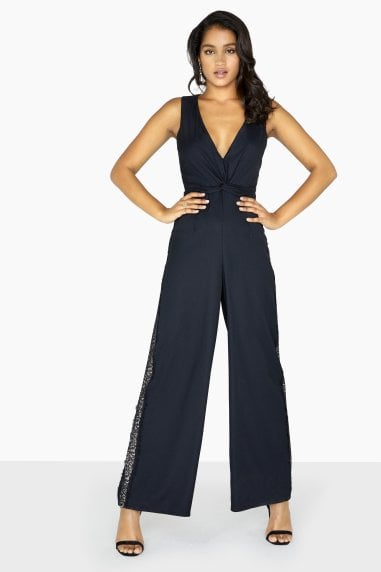 Adele Lace Side Stripe Jumpsuit