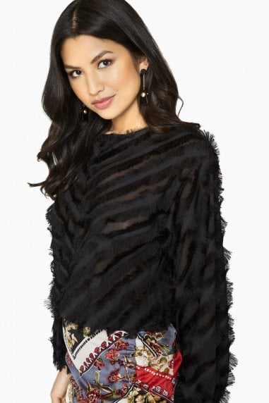 Sade Eyelash Fringe Top