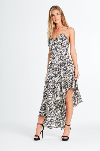 Ashton Leopard Dress In Black