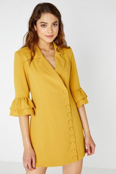 Lipa Button Front Blazer Dress