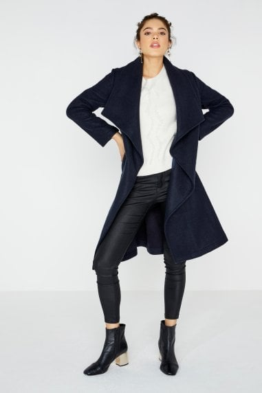 Abbott Navy Wrap Coat
