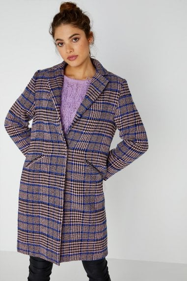 Cadogan Check Plaid Coat