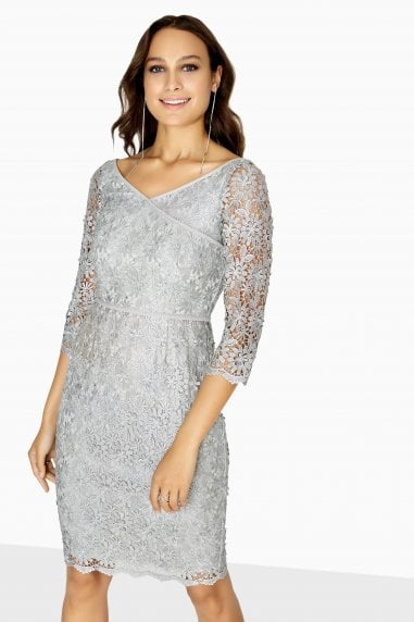 Stolz Metallic Off The Shoulder Dress