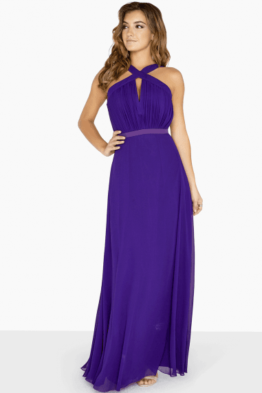 Frankie Purple Keyhole Maxi Dress