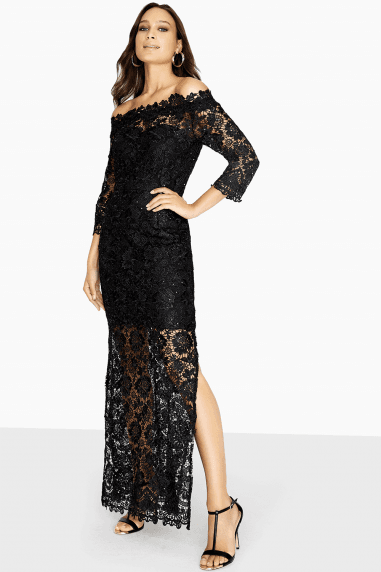 Malvik Sequin Crochet Maxi Dress