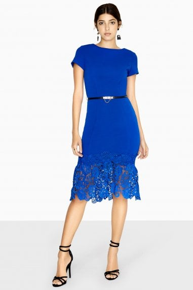 Sol Peplum Lace Dress