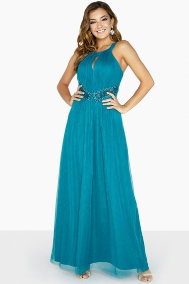 Louise Lace Insert Keyhole Maxi Dress