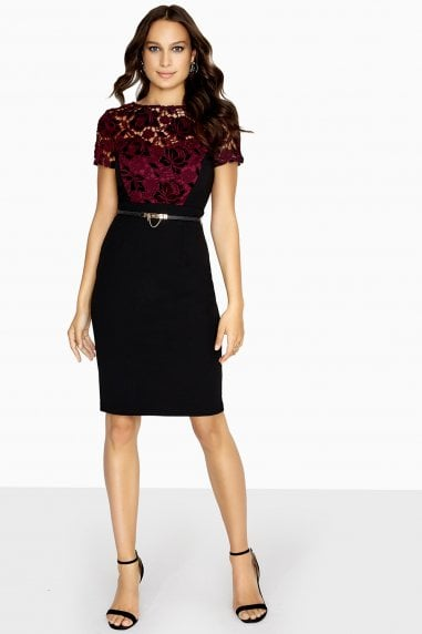 Sola Lace Dress With Velvet Lace