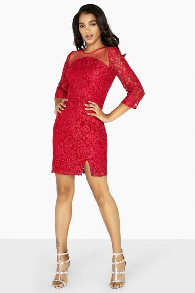 Evalina Lace Bodycon Dress