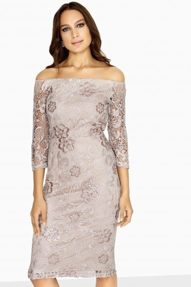 Ashford Crochet Lace Dress With Sequins
