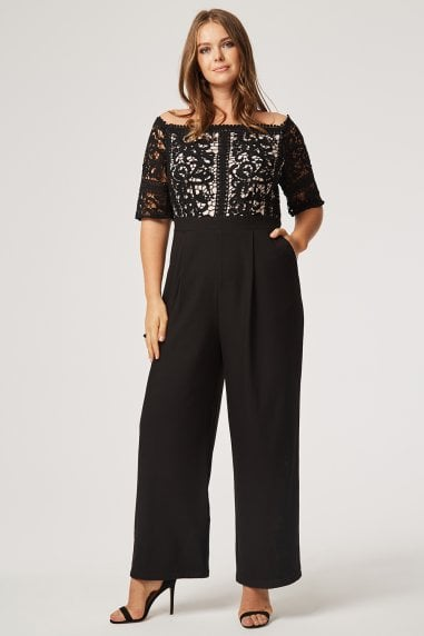 Hilary Crochet Bardot Jumpsuit