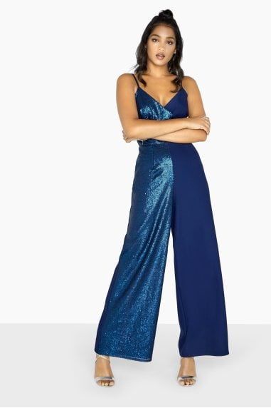 Tori Mixed Sequin Jumpsuit