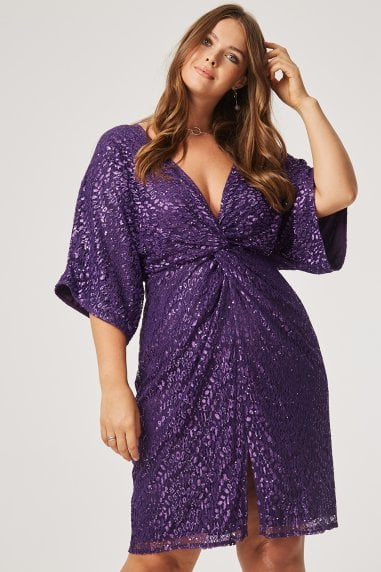 Sali Sequin Knot Dress