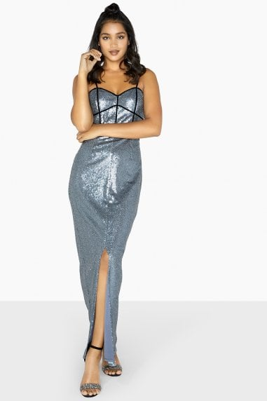Celine Sequin Binding Maxi Dress