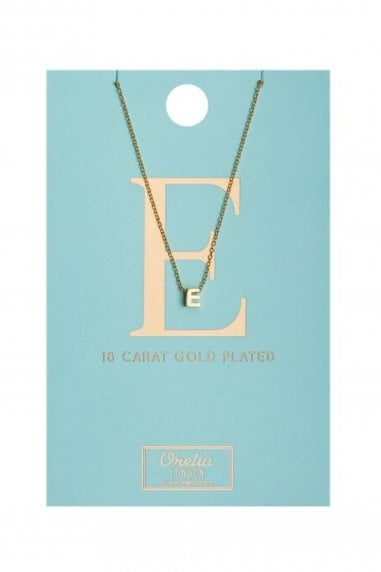 Orelia Gold Plated Initial E Necklace