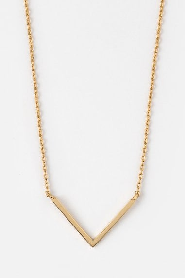 Orelia Gold V Pendant Necklace