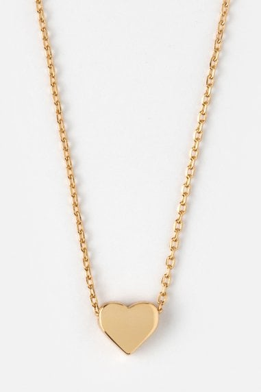 Orelia Gold Tiny Heart Necklace