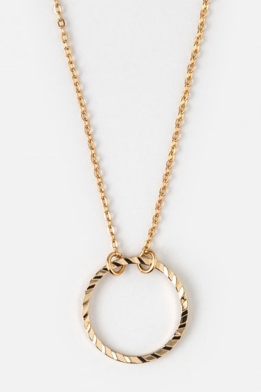 Orelia Gold Circle Ditsy Necklace