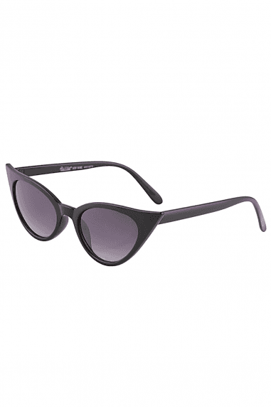 Black Mini Cat Eye Sunglasses