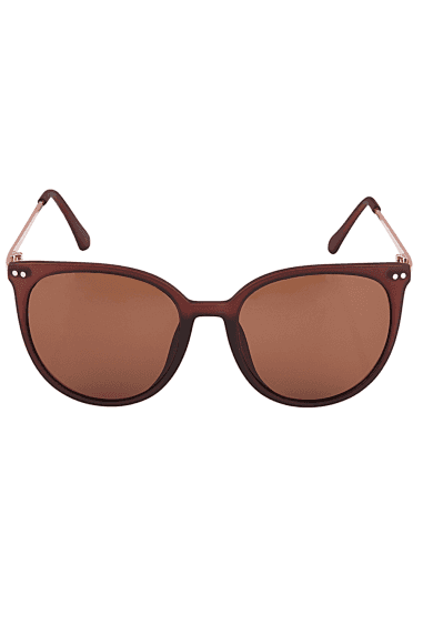 Round Sunglasses In Brown