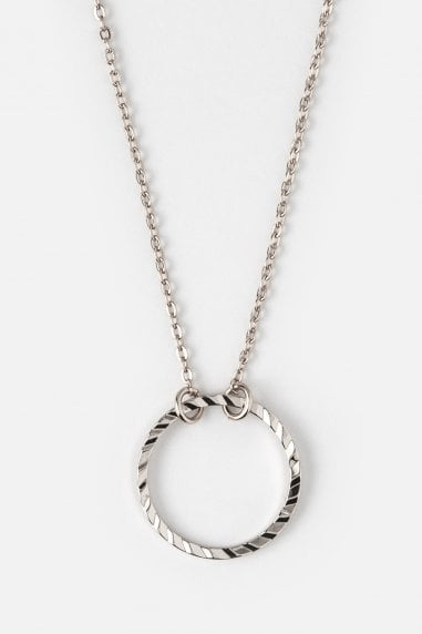 Orelia Silver Circle Ditsy Necklace