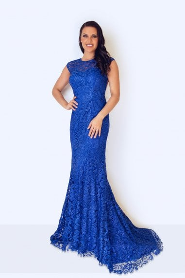 Kanti Royal Blue Maxi Dress
